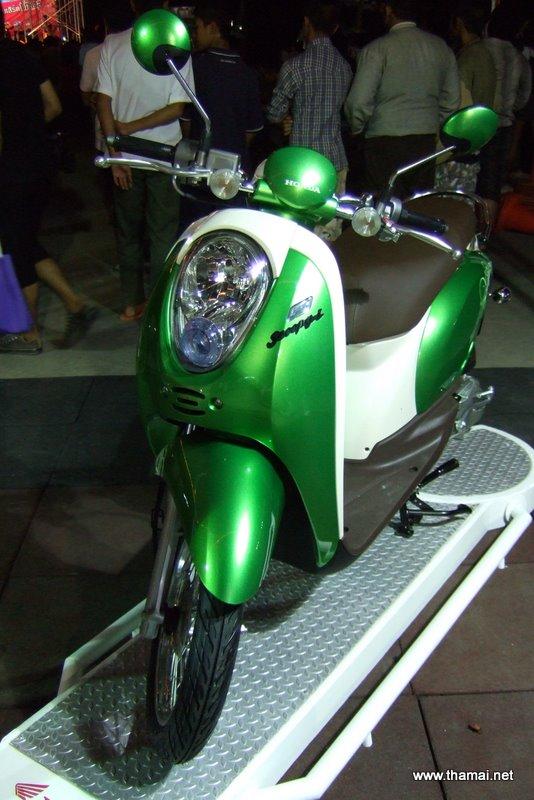 Honda Scoopy-i green colour