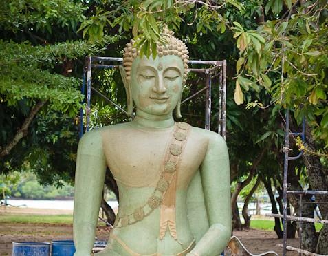 New Buddha Statue in Wat Paknam Khaem Nu
