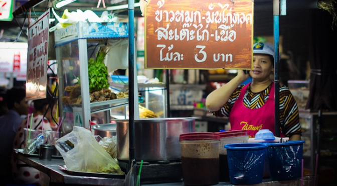 Night Food Stalls in Market Minburi