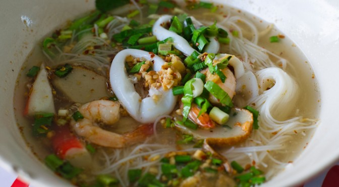 Kuey Teow Tom Yam in Chonburi