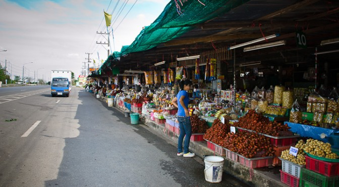 Food Souvenir Stalls from Chanthaburi Along Sukhumwit