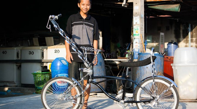 Self Modified Bicycle In Bangkok